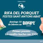 Rifa del Porquet el Domingo 10 de febrero en Bioparc Valencia